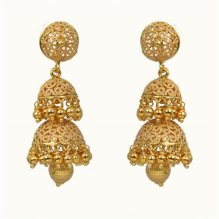 10810 Antique Jhumki with gold plating