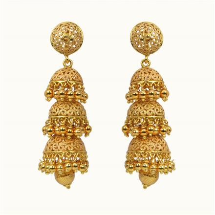 10811 Antique Jhumki with gold plating