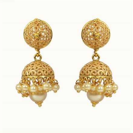 10812 Antique Delicate Earring with gold plating
