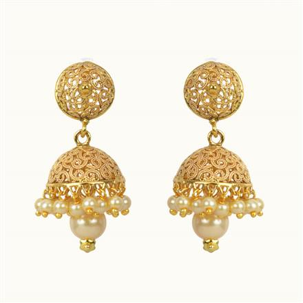 10813 Antique Jhumki with gold plating