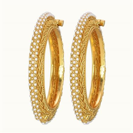 10833 Antique Openable Bangles with gold plating