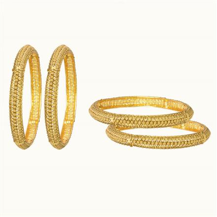 10835 Antique Classic Bangles with gold plating