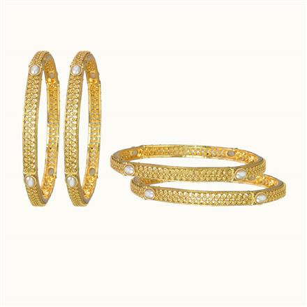 10836 Antique Classic Bangles with gold plating