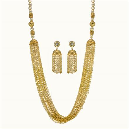 10837 Antique Long Necklace with gold plating