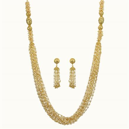 10838 Antique Mala Necklace with gold plating