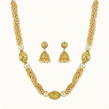 10839 Antique Mala Necklace with gold plating
