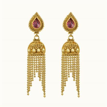 10843 Antique Plain Gold Earring
