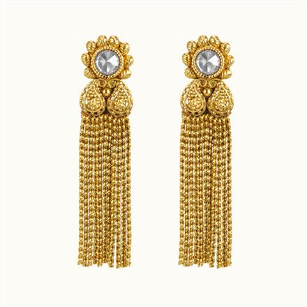 10844 Antique Delicate Earring with gold plating