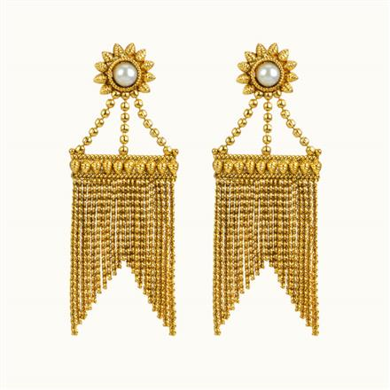 10845 Antique Classic Earring with gold plating