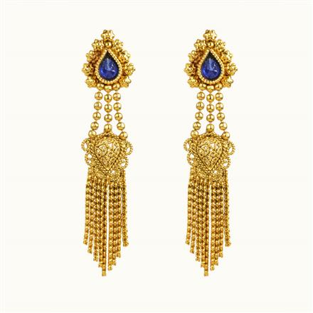 10848 Antique Delicate Earring with gold plating