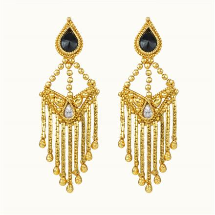 10849 Antique Classic Earring with gold plating
