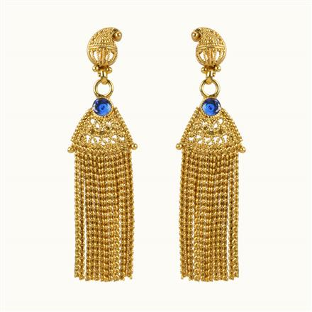 10850 Antique Classic Earring with gold plating
