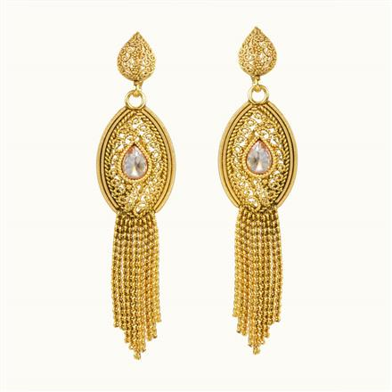 10851 Antique Classic Earring with gold plating