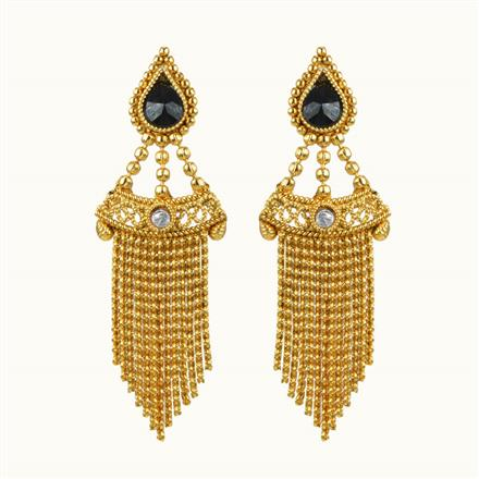 10852 Antique Classic Earring with gold plating