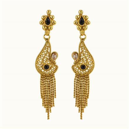 10853 Antique Classic Earring with gold plating