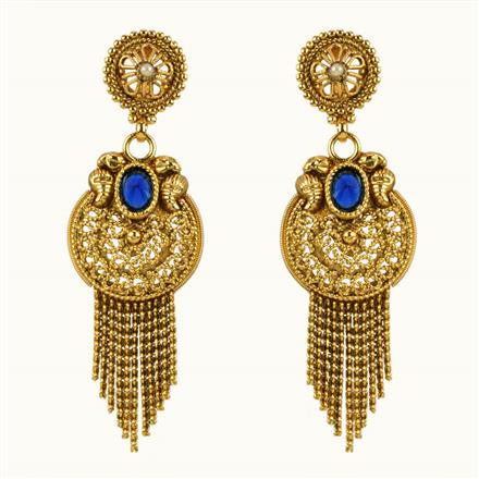 10854 Antique Classic Earring with gold plating