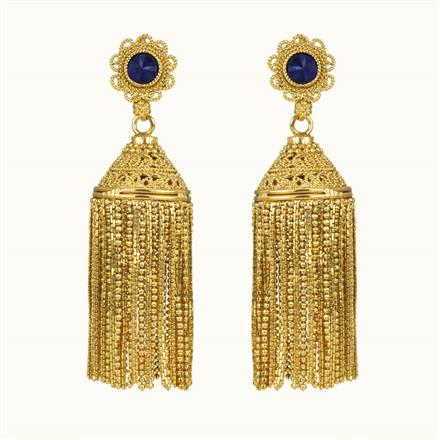 10856 Antique Jhumki with gold plating