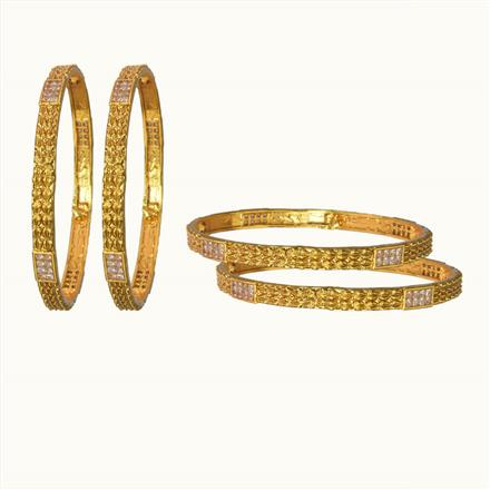 10857 Antique Classic Bangles with gold plating