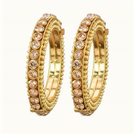 10858 Antique Openable Bangles with gold plating