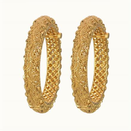 10859 Antique Openable Bangles with gold plating