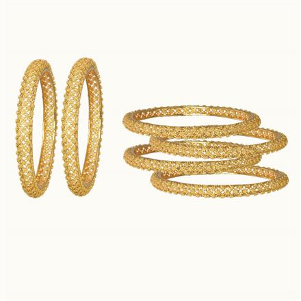10861 Antique Plain Gold Bangles