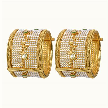 10862 Antique Openable Bangles with gold plating