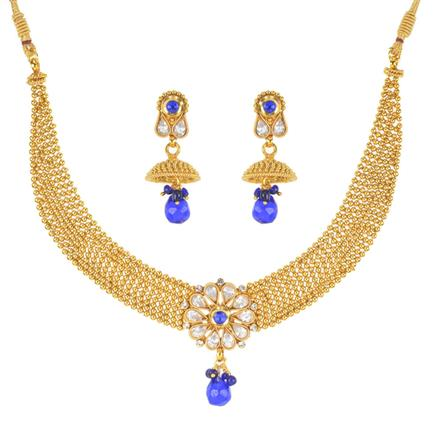 10872 Antique Classic Necklace with gold plating