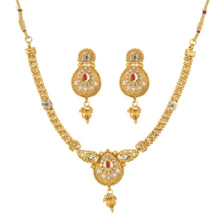 10873 Antique Delicate Necklace with gold plating