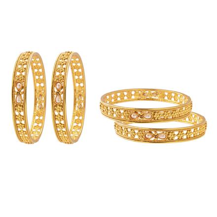 10874 Antique Classic Bangles with gold plating