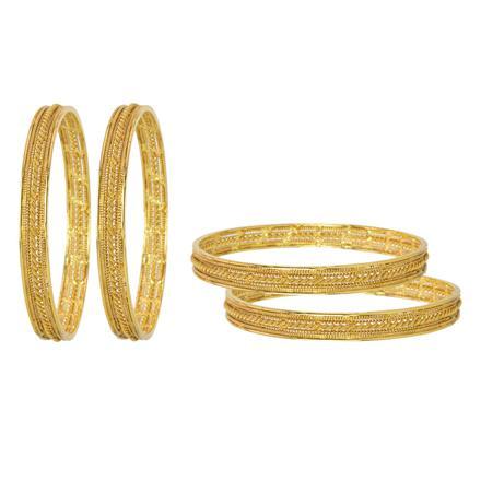 10875 Antique Plain Gold Bangles