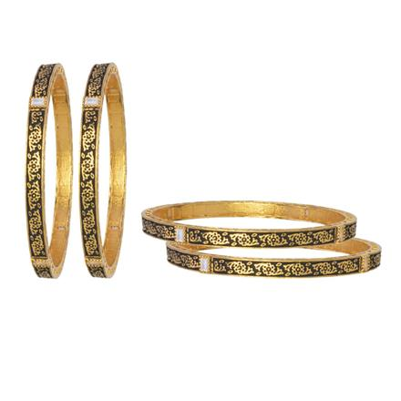 10879 Antique 4 Pc Bangle with gold plating
