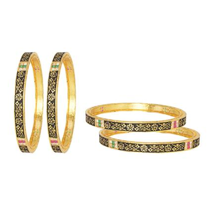 10880 Antique Classic Bangles with gold plating