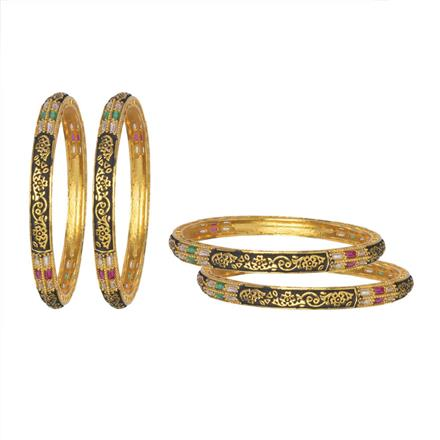 10881 Antique 4 Pc Bangle with gold plating