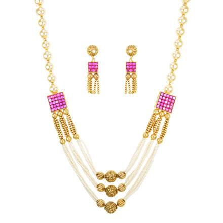 10884 Antique Mala Necklace with gold plating