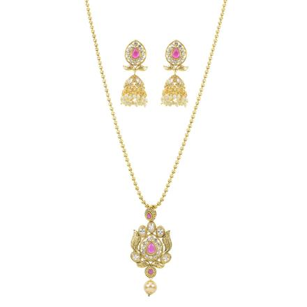10886 Antique Delicate Pendant Set with gold plating