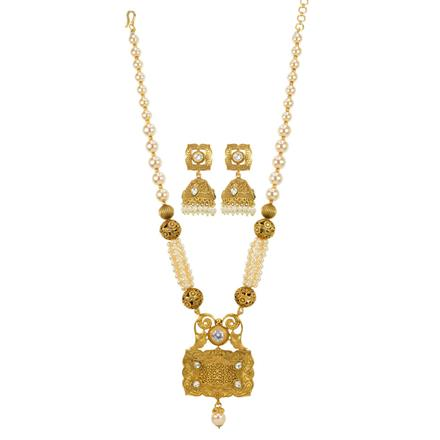 10888 Antique Mala Pendant Set with gold plating