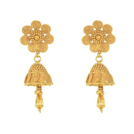 10901 Antique Jhumki with gold plating