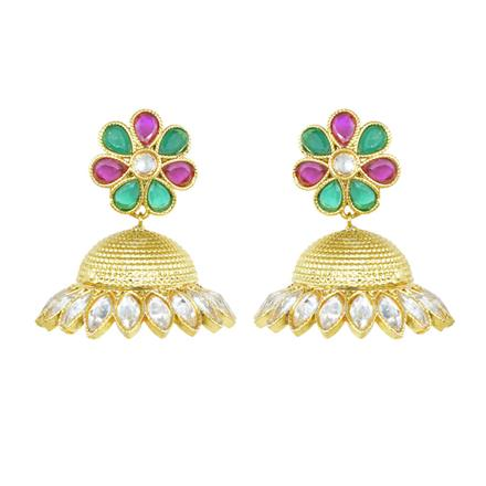 10910 Antique Jhumki with gold plating