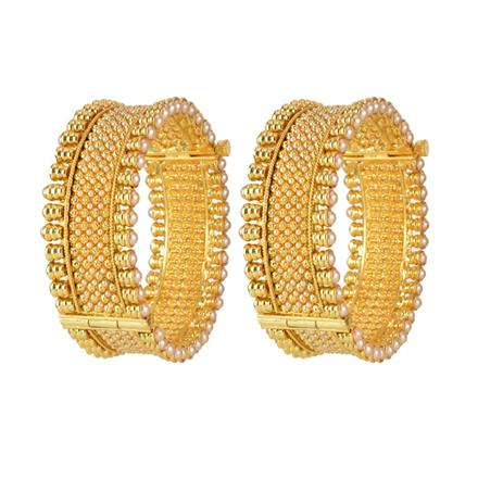 10918 Antique Openable Bangles with gold plating