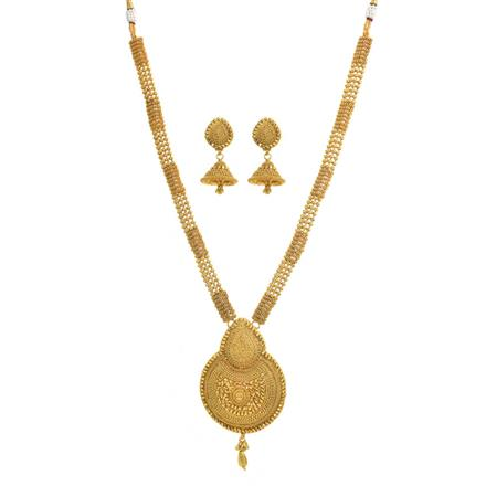 10922 Antique Long Necklace with gold plating