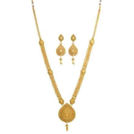 10925 Antique Long Necklace with gold plating