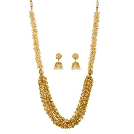 10933 Antique Mala Necklace with gold plating