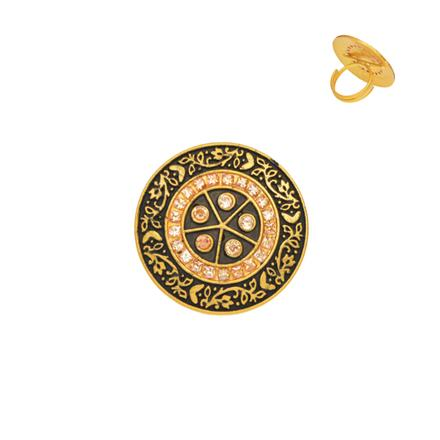 10935 Antique Classic Ring with gold plating