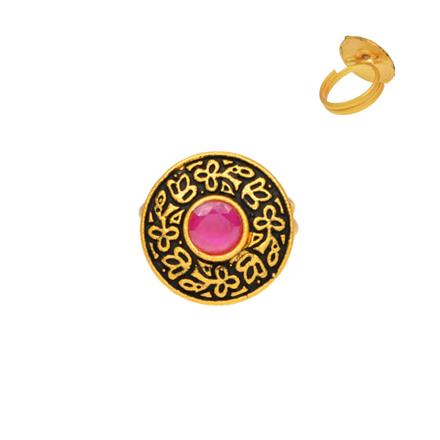 10936 Antique Delicate Ring with gold plating