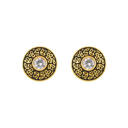 10940 Antique Delicate Earring with gold plating