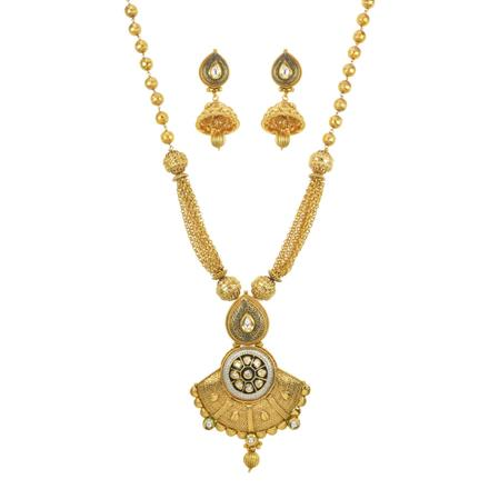 10944 Antique Mala Pendant Set with gold plating