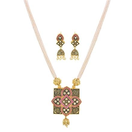 10947 Antique Mala Pendant Set with gold plating
