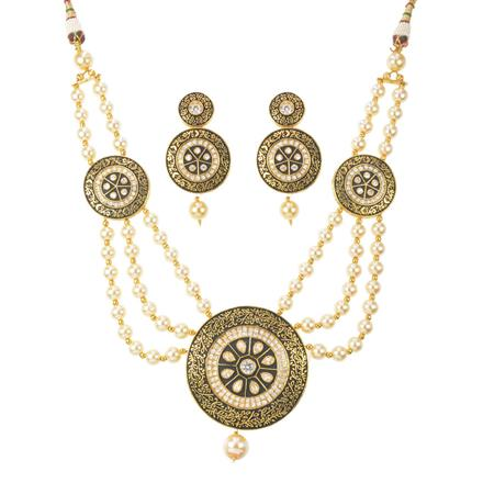 10949 Antique Mala Pendant Set with gold plating