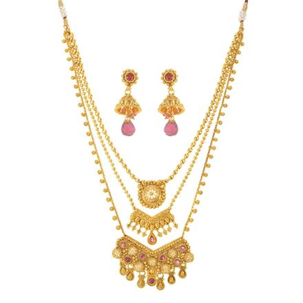 10954 Antique Classic Necklace with gold plating