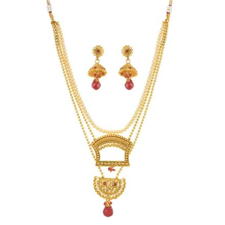 10957 Antique Classic Necklace with gold plating